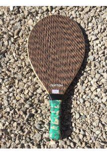 Полупрофессиональная ракетка для фрескобола пёстрого цвета из дерева - MADEIRA LAMINADA BORRAO