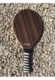 Racchetta frescobol semi pro in legno scuro - MADEIRA LAMINADA CASTANHA
