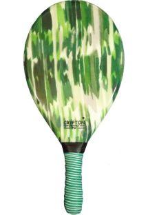 Green printed frescobol paddle - RAQUETE FIBRA ESTAMPADA CP10M