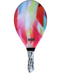 Colourful printed frescobol paddle - RAQUETE FIBRA ESTAMPADA CP15A