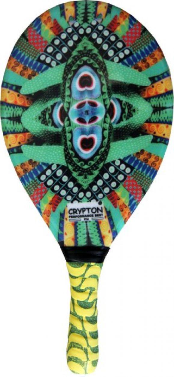Professional ethnic print frescobol paddle - RAQUETE FIBRA ESTAMPADA CP15B