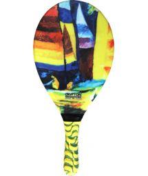 Multicoloured print frescobol paddle - RAQUETE FIBRA ESTAMPADA CP15C