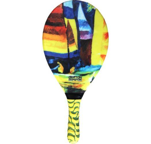 Ракетка для пляжного тенниса с разноцветным принтом - RAQUETE FIBRA ESTAMPADA CP15C