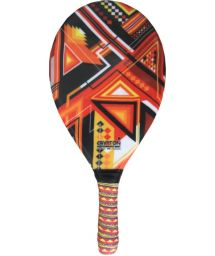 Orange geometric print frescobol paddle - RAQUETE FIBRA ESTAMPADA CP15D