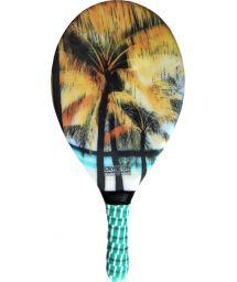 Raquette de frescobol imprimé palmiers - RAQUETE FIBRA ESTAMPADA CP15E