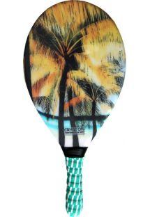 Ракетка для пляжного тенниса с принтом в виде пальм - RAQUETE FIBRA ESTAMPADA CP15E