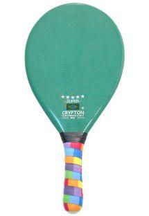 Professional dark green frescobol paddle - RAQUETE FIBRA SUPER VERDE ESCURO