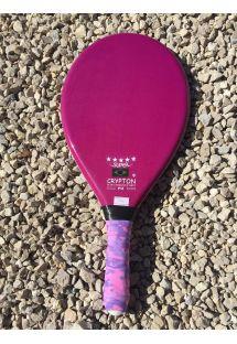 Raquette professionnelle de frescobol violette - RAQUETTE FIBRA SUPER ROXA