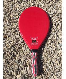 Röd proffsig frescobol-racket - RAQUETTE FIBRA SUPER VERMELHA