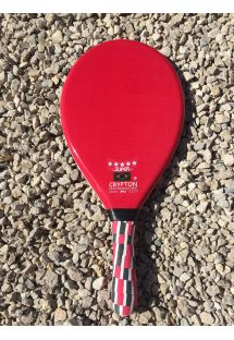 Professional red frescobol racket - RAQUETTE FIBRA SUPER VERMELHA