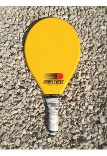 Raqueta de frescobol amarilla serie Evolution - RAQUETE AMARELA