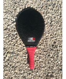 Frescobol racket in black/pink carbon fiber - RAQUETE AREIA PRETA