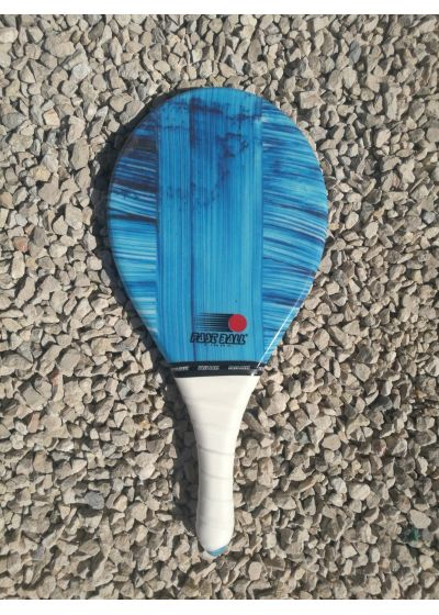 Frescobol-racket, Fibra-linjen, blått tryck - RAQUETE AZUL