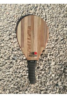 Frescobol racket Style series in light wood - RAQUETE CASTANHO CLARO