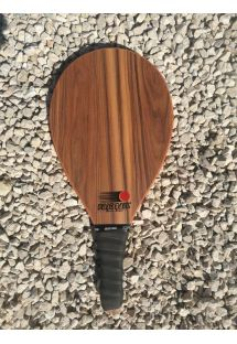 Frescobol racket Style series in dark wood - RAQUETE CASTANHO ESCURO