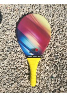 Frescobol racket colorful multicolor gradient - RAQUETE COLORIDA