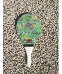 Frescobol racket Fribra line leaves print - RAQUETE FOLHA