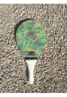 Фрескобольная ракетка Fribra lineс рисунком листов - RAQUETE FOLHA