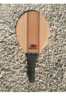 Frescobol rackets brown stripes - RAQUETE LISTRAS MARROM