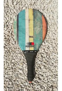 Frescobol racket in vintage stripes - RAQUETE LISTRAS VINTAGE