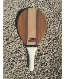 Frescobol racket Fibra line in wood - RAQUETE MARROM