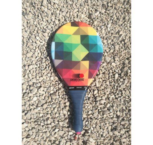 Frescobol racket geometry / multicolor - RAQUETE MULTICOLORIDO