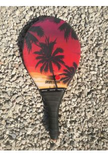 Frescobol racket sunset / palm trees - RAQUETE PRAIA BONITA