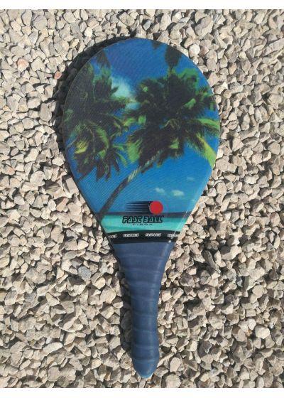 Frescobol racket Fibra-linje, tropiskt tryck - RAQUETE TROPICAL