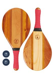 TRANCOSO-BEACH BAT SET RED