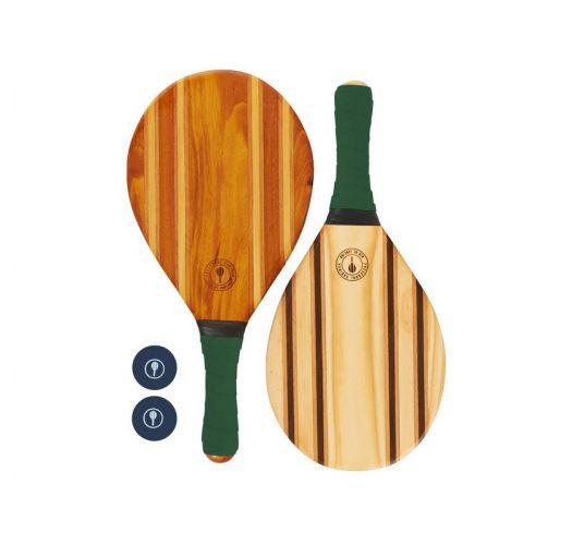Frescobol-Schläger aus Holz/grünes Neopren - LEBLON BEACH BAT GREEN