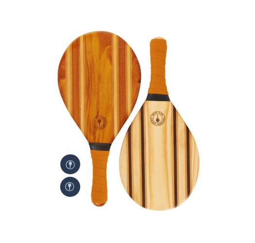 Frescobol-Schläger aus Holz/orangenes Neopren - LEBLON BEACH BAT ORANGE