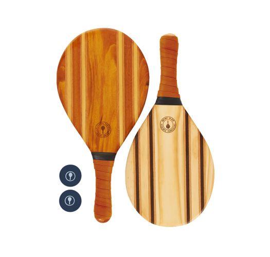 Frescobol-Schläger aus Holz/orangenes Neopren - LEBLON BEACH BAT TERRACOTTA