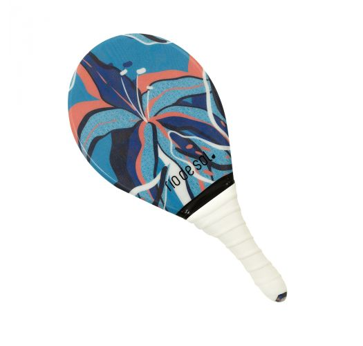 Pro frescobol bat with mixed pattern and white grip - BEACH BAT RDS LILLY