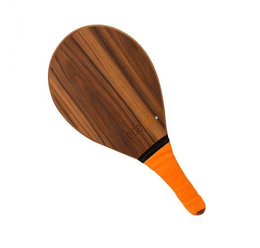 Drewniana rakietka do gry frescobol z pomarańczowym uchwytem - BEACH BAT RDS MADEIRA LARANJA
