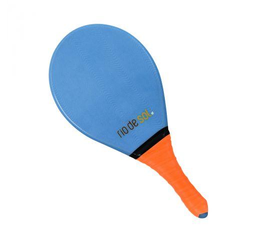 Niebieska rakietka do gry frescobol z pomarańczowym uchwytem - BEACH BAT RDS MARINHO