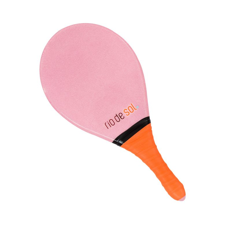 Pink pro frescobol bat with grey grip - BEACH BAT RDS ROSA