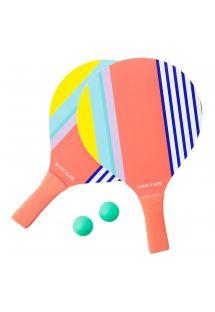 Set racchette da spiaggia con righe colorate - PADDLES HAVANA