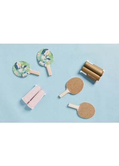 Ping pong game set - tropical theme - PING PONG PLAY ON MONTEVERDE