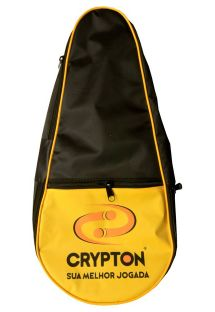 Black & yellow frescobol racket bag - BLACK & YELLOW BEACH BAG COVER