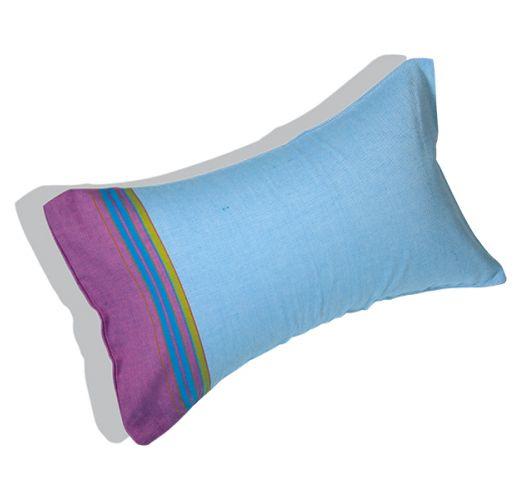 Oppustelig strandpude med blåt/violet pudebetræk - RELAX AMANI