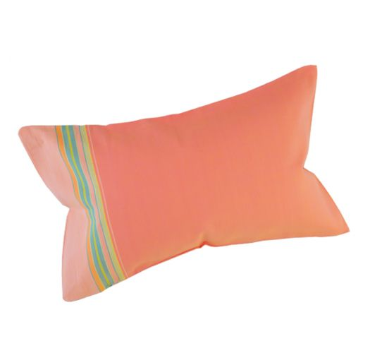 Peach-coloured beach cushion with a removable cover - RELAX AMAZONE