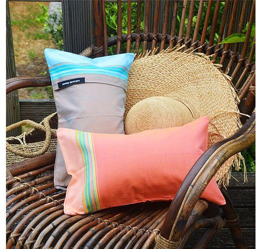 Coussin de plage déhoussable coloris pêche - RELAX AMAZONE