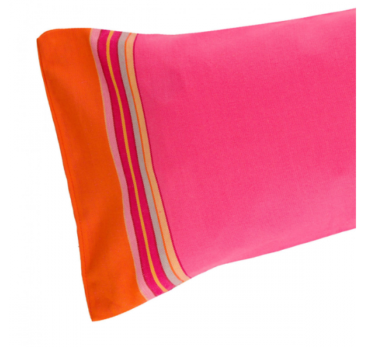 Inflatable beach cushion in right pink cover - RELAX DIANI