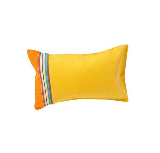 Inflatable yellow and orange beach cushion - RELAX IBIZA