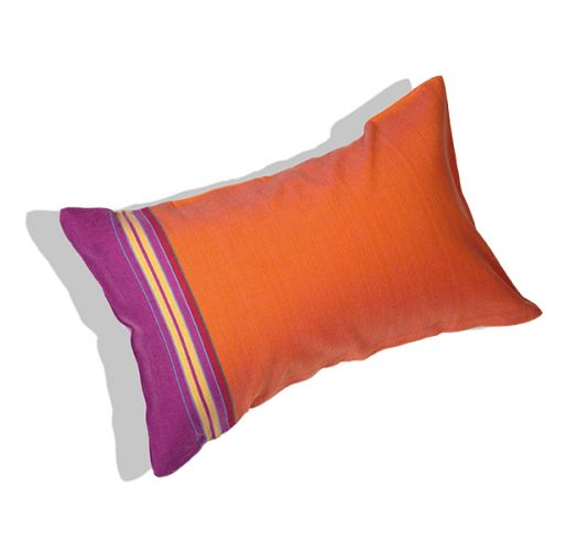 Inflatable beach cushion and orange cover - RELAX MANGO