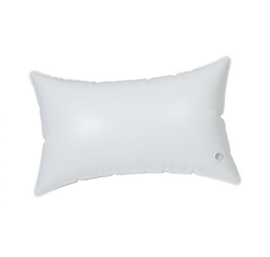 Inflatable beach cushion with light green and blue pillowcase - RELAX MOJITO