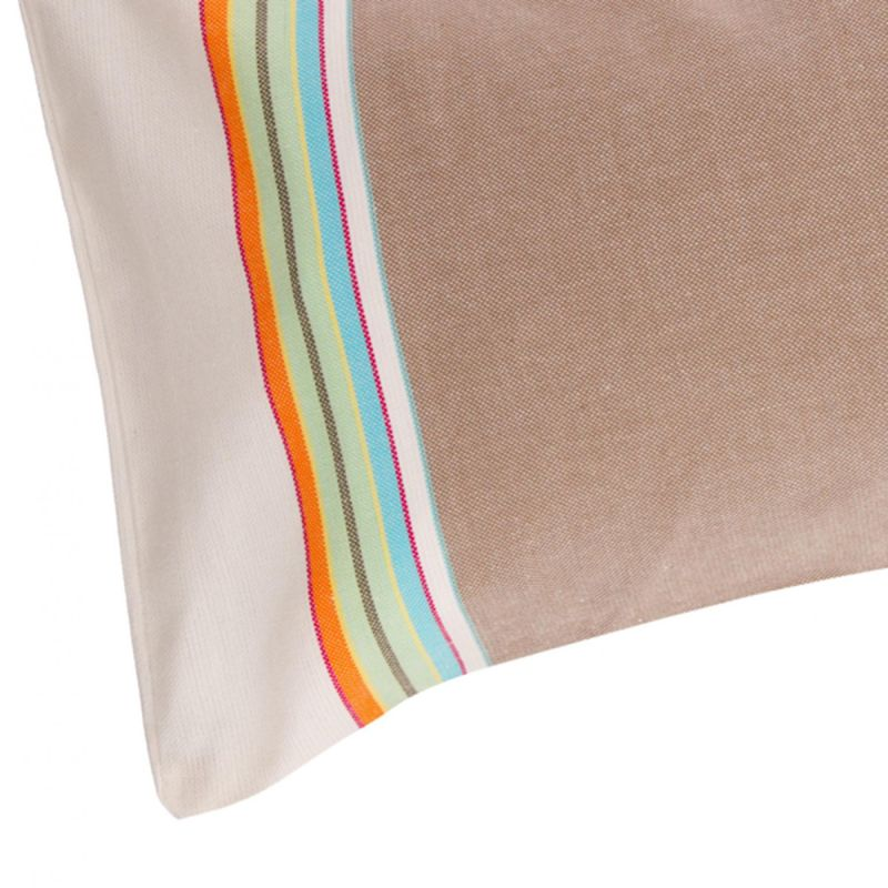 Inflatable beach pillow - beige and colorful stripes - RELAX NOMAD