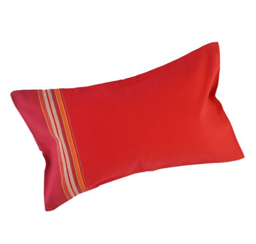 Red and fuchsia beach cushion with a removable cover - RELAX RIO GRANDE