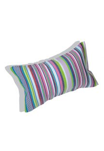 Inflatable beach cushion and striped cover - RELAX SERENGETI