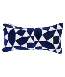 Navy blue & white inflatable beach pillow - ANDAMAN